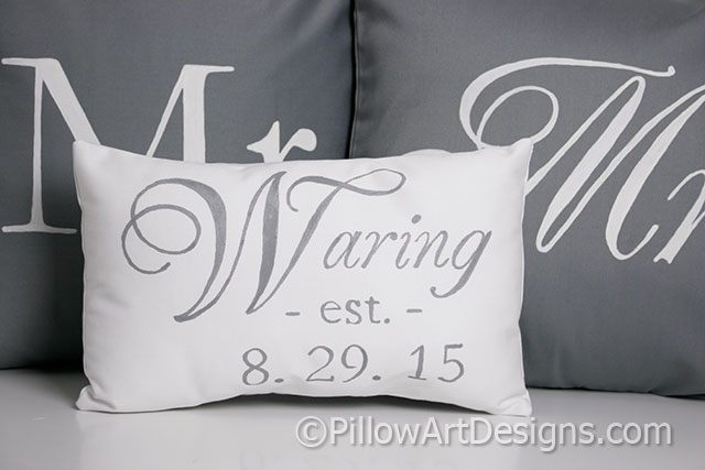 Mr And Mrs Pillow Covers With Name Est Date Pillow Magnificent Mr And Mrs Pillow Covers